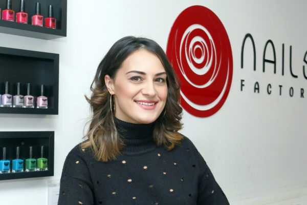 Andrea Unchiu, gerente de la franquicia Nails Factory en Arganda del Rey